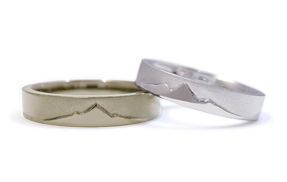 お二人の大切な山を刻んだ結婚指輪