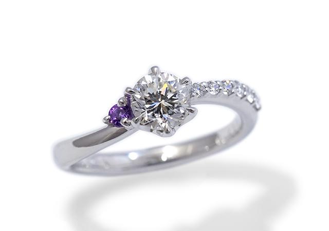 H様 (Pt 受け継いだ指輪で作る婚約指輪)
