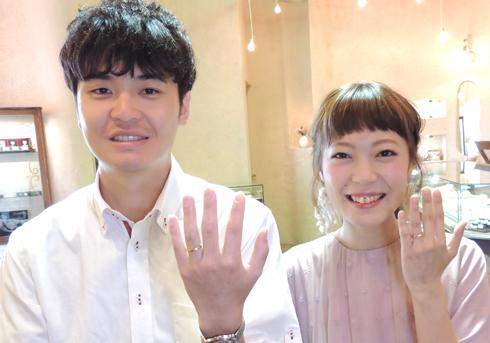 T様 (YG 鍛造シルクラインの結婚指輪)
