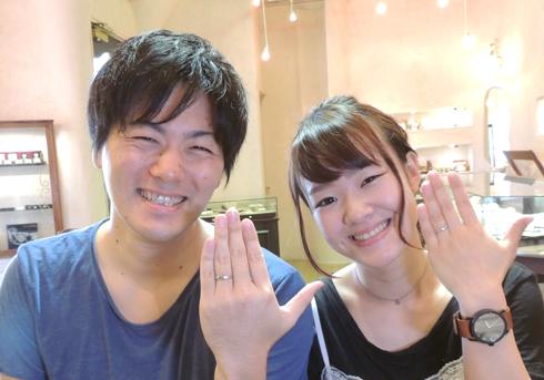 S様 (Pt/PG 異素材&アンティークな結婚指輪)