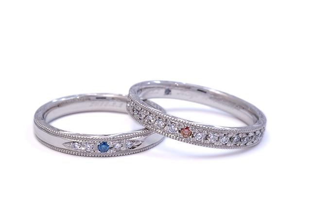 S様 (Pt ハーフエタニティ&ダイヤの結婚指輪)