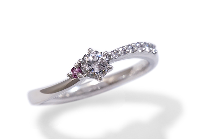S様 (Pt 受継いだダイヤで作る婚約指輪)