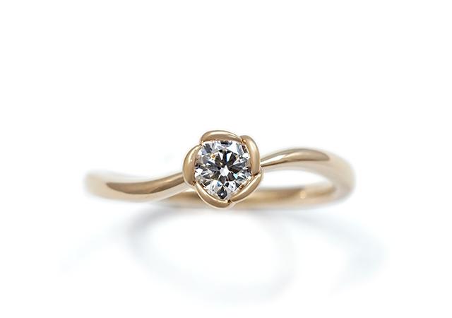 H様 (PG 一輪の花を形にした婚約指輪)