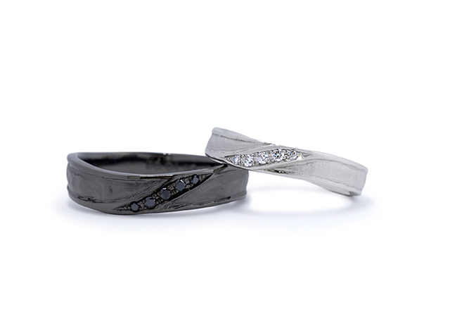 Y様 (Pt 和紙ウェーブの結婚指輪)