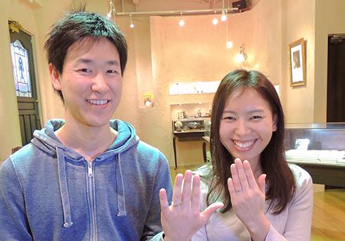 Y様 (Pt 重ねるとハートが浮かぶ結婚指輪)