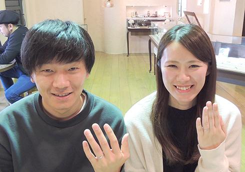 T様 (Pt 手編みロープの結婚指輪)