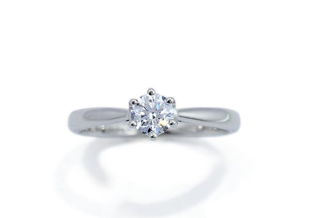 I様 (6本爪のソリテール婚約指輪)