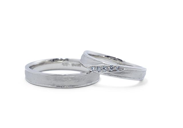 R&R様 (Pt 和紙とダイヤの結婚指輪)