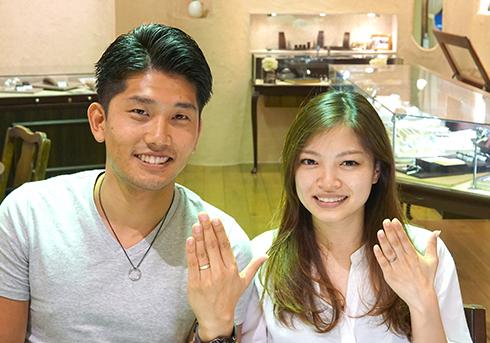N様 (Pt/PG・Pt/YG コンビ&つや消しの結婚指輪)