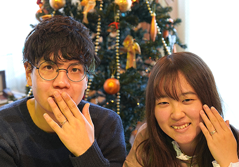 M&A様 (桜G/Pt 青空に花咲くコンビ結婚指輪)