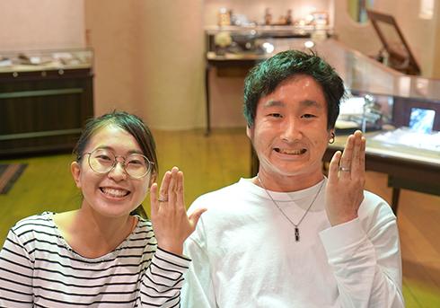 I様 (Pt 彫刻&漆の結婚指輪)