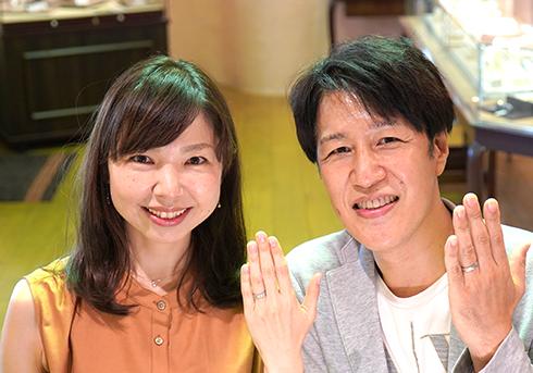 増岡保治・山下純子様 (Pt 彫刻を楽しめる結婚指輪)