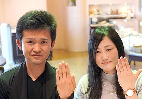 石津佑将・横原真実様 (PG/Pt/WGグレー 素材を組み合わせた結婚指輪)