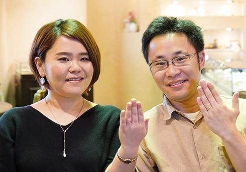 鈴木勇太・清花様 (PG/萌黄金 鎚目模様が美しい結婚指輪)