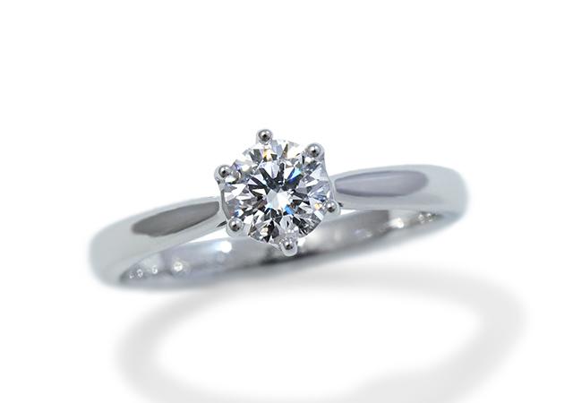 T様 (Pt 6本爪ソリテールの婚約指輪)