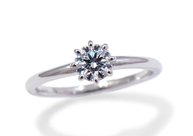 N様 (Pt 細身の8本爪ダイアモンド婚約指輪)
