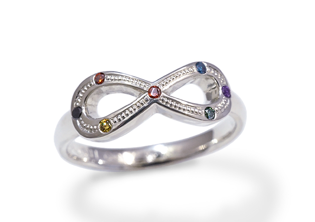 S様 (SV 7色の宝石で8をかたどった指輪)